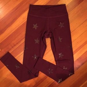 Jessica Simpson The Warmup Burgundy Leggings
